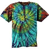Guru-Shop Batik T-Shirt, Herren Kurzarm Tie Dye Shirt, Baumwolle, Rundhals Ausschnitt Alternative Bekleidung
