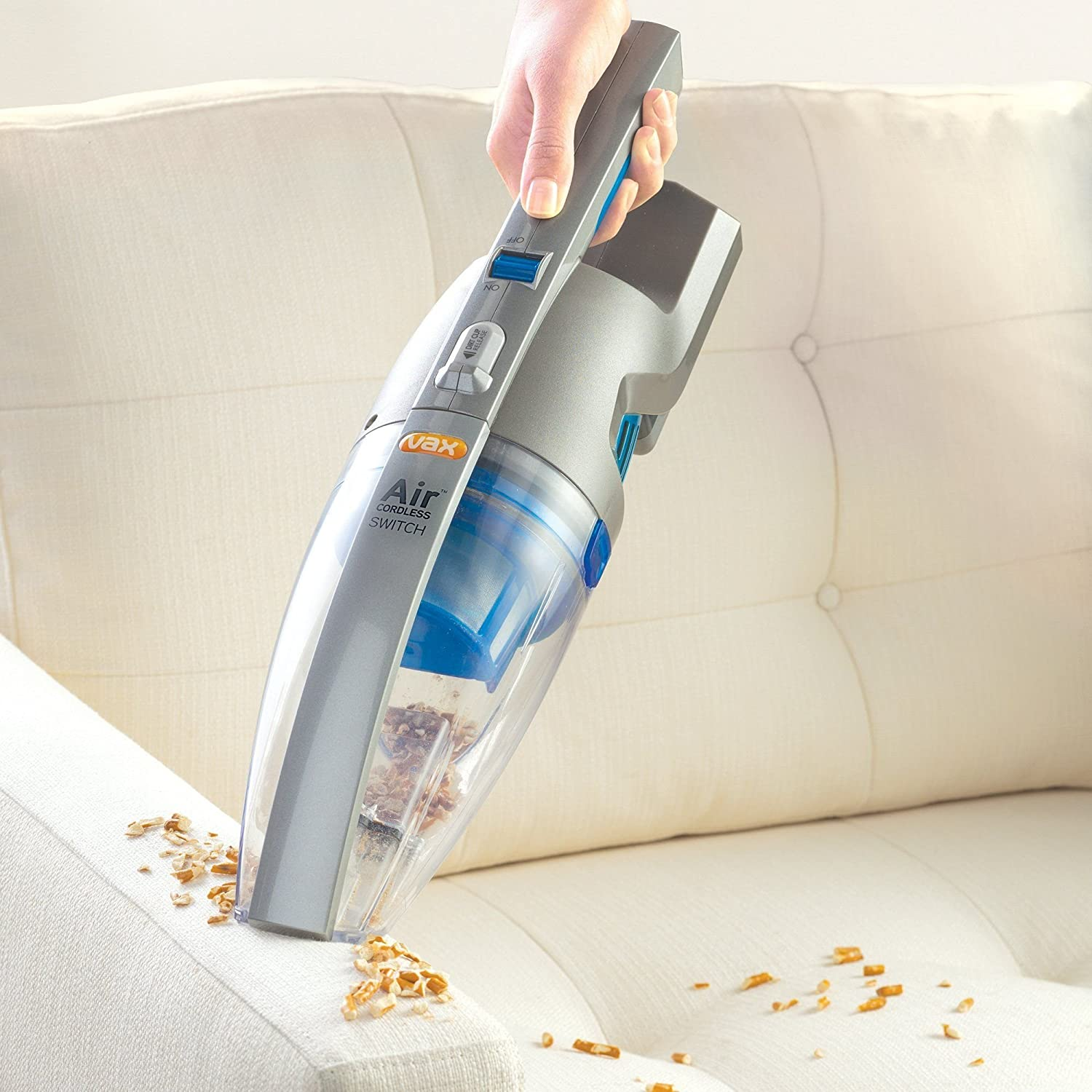 What is the best handheld vacuum cleaner reference com - Vax H85 Ach Bd Air Cordless Lithium Life Handheld Vacuum Cleaner 0 7 L Silver Blue Amazon Co Uk Kitchen Home