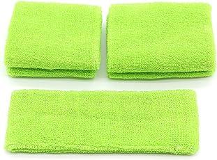 Pasow new.com.tech-Set 2 paia di fascia e polsiere antisudore, taglia S/M) di cotone per & Sport attività all'aperto