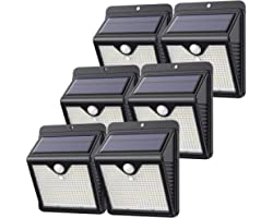 【6 Pack/150 LED】Solar Lights Outdoor, Feob Solar Security Lights Motion Sensor Lights - [Powerful - Waterproof, Smart PIR Mot