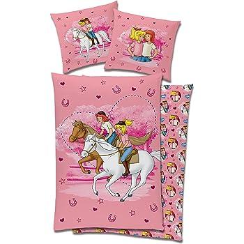 herding 465749050 pferde bettw sche 80 x 80 cm 135 x 200 cm biber flanell. Black Bedroom Furniture Sets. Home Design Ideas