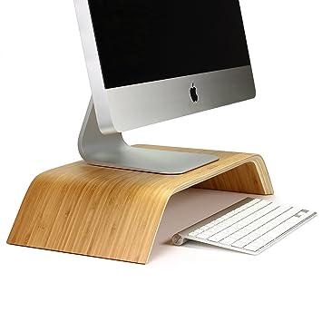 urcover monitor stnder fr imac desktop halterung in hell braun samdi - Computertisch Fr Imac 27