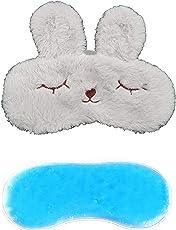 Jenna™ Fur Bunny Ice Gel SleepingEye Mask for Insomnia, Meditation, Puffy Eyes and Dark Circles