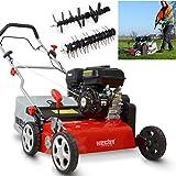 (NEU) HECHT 2-IN-1 Benzin Vertikutierer/Lüfter für optimale Rasenpflege – 4,0 kW / 5,5 PS – 42 cm Arbeitsbreite – 45 l…