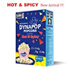 Dynapop® Microwave Popcorn Hot & Spicy 400g (Pack of 4*100g)