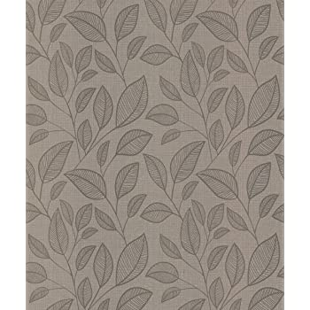 Belgravia Memento Rosemoor Mist Metallic Leaf Designer Wallpaper 9545-C