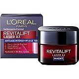 L'Oréal Paris revitalift laser X3 nattkräm med hyaluronsyra, hyaluron anti-age-ansiktskräm, 50 ml