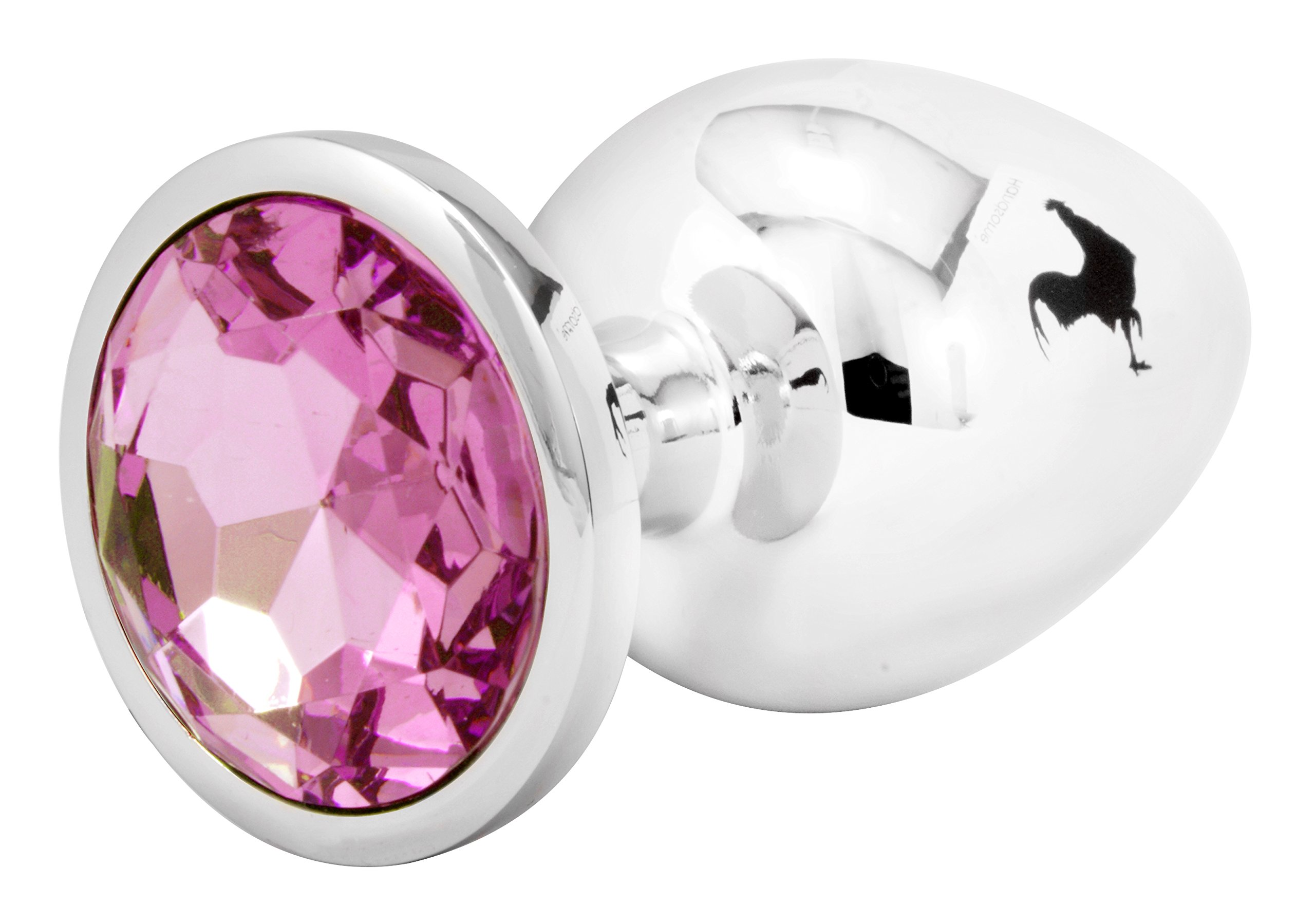 Handsome Cock Large Pink Jewelled Butt Plug