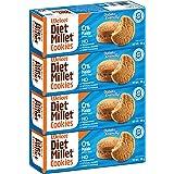Weleet® Healthy Digestive Cookies | Diabetic Friendly | Home/Office Snack (Diet Millet Cookies) - Pack of 4, 360 gm