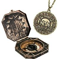 papapanda Piraten Jack Kompass Azteken Münze Halskette Set