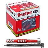 fischer DUOPOWER 10 x 80 S-universele pluggen met schroef voor het bevestigen van hangkasten, wandrekken in beton, metselwerk