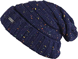 Noise NOICAPWNTR050 Polyester Dot Knitted Beanie, Adult (Blue)