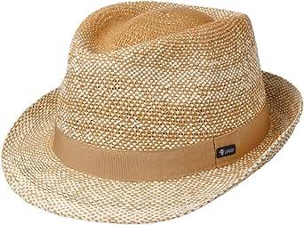 Lipodo Cappello di Paglia Topsey Twotone Donna/Uomo - Made in Italy da Sole Cappelli Spiaggia con Nastro Grosgrain Primavera/Estate