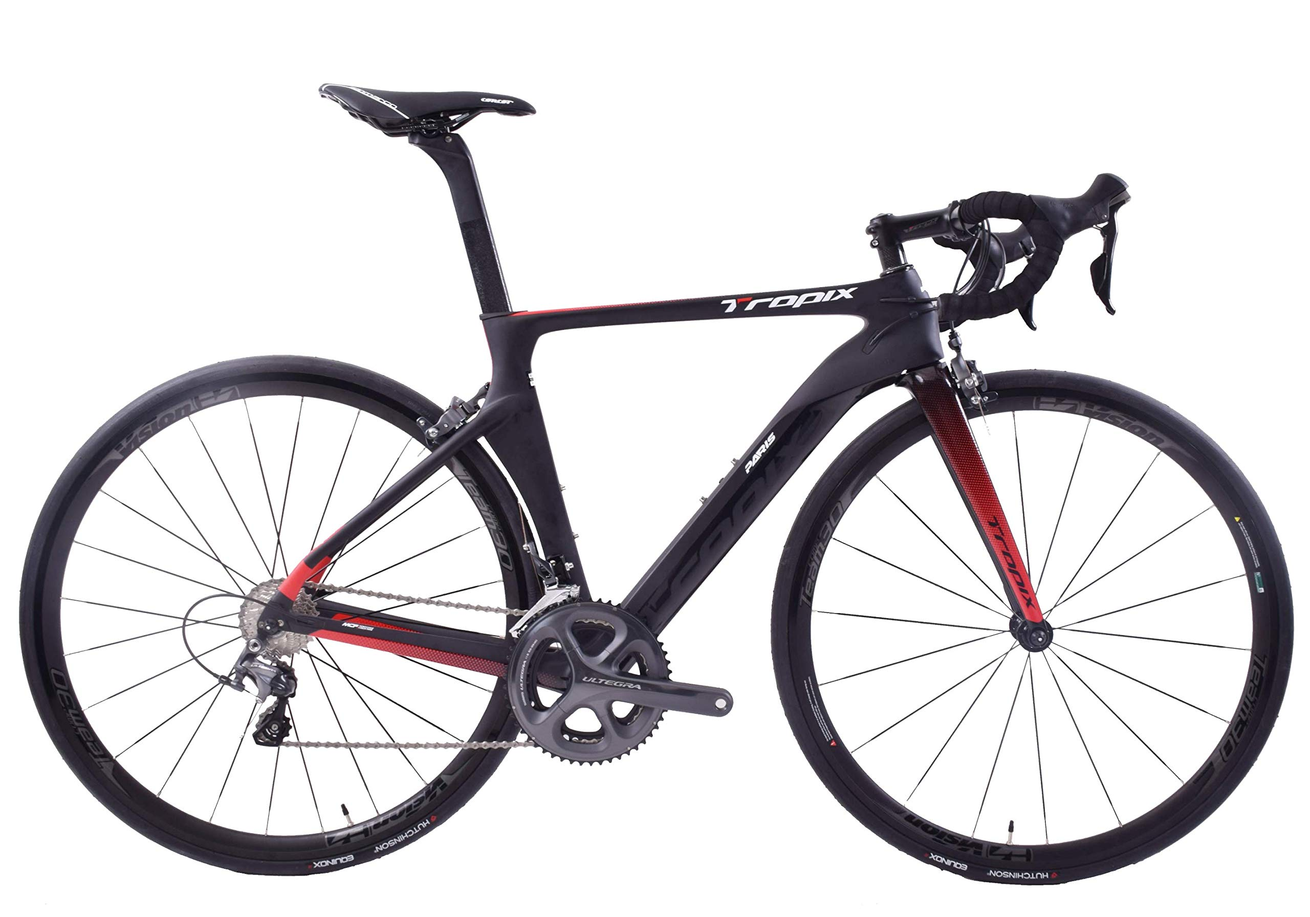 Tropix Paris 700c Wheel Road Racing Bike 48cm Lightweight Carbon Fibre Frame Shimano Ultegra 22 Speed