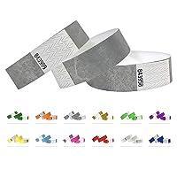 Bracelets d'identification Tyvek 19 mm, 1000 pièces, Bracelets événementiels (Argent, 1000 Pack)
