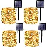 [Lot de 4] Guirlande Lumineuse Exterieure Solaire, Kolpop 240 LED 24m Guirlande Solaire Exterieur Étanche 8 Modes Décoration