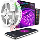 WiFi Alexa Tira LED 15M(2x7.5M) - Nobent 5050 SMD Luces LED Regulable Sync con Música, Tira LED RGB Inteligente Control Remot