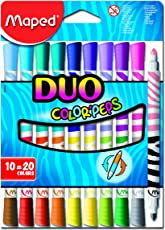 Maped M847010 - Filzstifte Color Peps Longlife Duo, 10er Packung