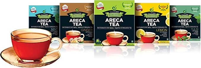 ARECA TEA Regular, Lemon and Tulsi Combo