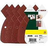 Bosch 25-delige Schuurblad-set verschillende materialen voor multischuurmachine (korrel 80/120/180, 4 gaten)