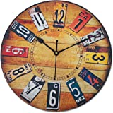RAG28 Designer Wooden Wall Clock (Size: 12 Inch, WD060)