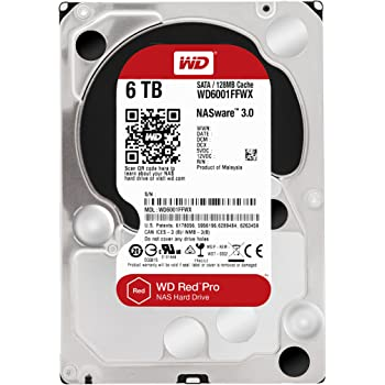 Western Digital Red Pro WD6001FFWX 6TB Internal Hard Drive for NAS Storage