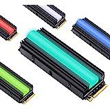 EZDIY-FAB 12V RGB SATA NVMe NGFF M.2 Heatsink SSD-koeler voor 2280 M.2 SSD, met thermische pad (SSD niet inbegrepen)