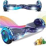 HappyBoard Hoverboard 6.5'' Patinete Eléctrico Bluetooth Monopatín Scooter autobalanceado, Ruedas de Skate con luz LED, Motor