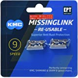 KMC Unisex 9 Speed EPT MissingLink Joining Link, Donker Zilver, 2 paar