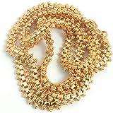 SUKRA GOLD 1 Gram Micro Copper Gold Plated Traditional Designer Trendy Golden Chain for Women (24 Inches, OTT/CH-509)