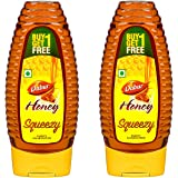 Dabur Honey 100% Pure World's No.1 Honey Brand with No Sugar Adulteration , Squeezy Pack - 400g (Buy 1 Get 1 Free)