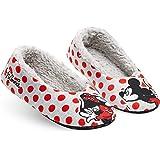 Disney Fluffy Slippers Socks for Women, Non Slip Ballet Slippers, Minnie Gifts