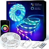 10M Luces de Tiras Led WiFi, TECKIN Tiras Led Rgb 5050 12V con 300 Leds, Compatible con Alexa, Google Home, App, Control Remo