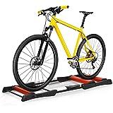 homcom Rullo da Allenamento Biciclette Trainer Pieghevole, Rullo Anteriore Regolabile, Max. Carico 120kg