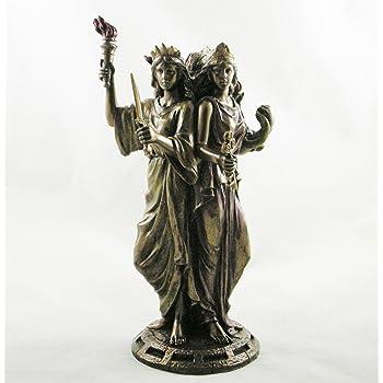 Greek Goddess Hekate Goddess of Magic Triple Figurine Bronzed Hecate