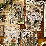 240 Pcs Autocollants Thème du timbre, Autocollants Artisanaux Auto-Adhésifs, Papier Timbré Vintage Autocollants Scrapbooking