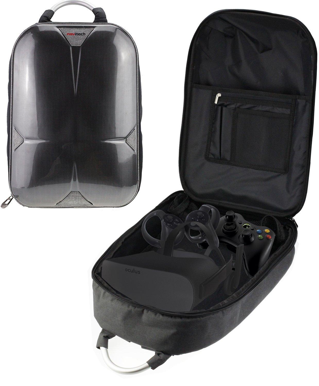 Navitech Sac à dos grise / étui de voyage / étui pour le Oculus Rift + Oculus Touch Controller