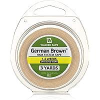 WALKER TAPE Hair Replacement Tape, German Brown Liner Cloth (1-inchx3 Yards)