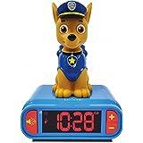 Lexibook Veilleuse Pat Patrouille pour Enfant lumineux Effets sonores Paw Patrol Horloge Réveil Chien Chase Marshall Snooze C
