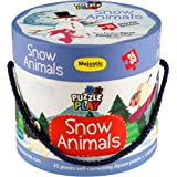 THE BOOK TREE Puzzle Play 35 Piece Big Size Snow Animals Puzzle Set with 1 Story Board Book for Children