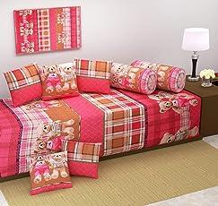 Diwan Set Premium 8 Piece 500 TC Cotton Diwan Set by Laying Style