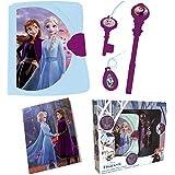 Lexibook- Disney La Reine des Neiges 2, Journal Intime électronique Lumineux et sonore avec carnet, clé, Stylo et médaillon M