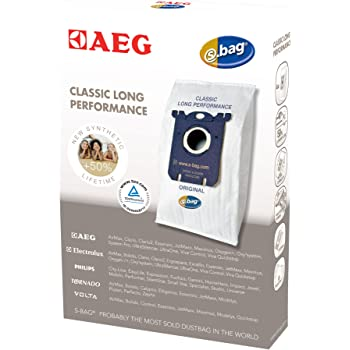 AEG GR 201 3 sacchetti sintetici per aspirapolvere, S-bag Classic Long-Performance, corrisponde a Menalux 1800