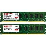 Komputerbay 16GB (2x 8GB) PC3-10600 10666 1333MHz DDR3 a 1333 DRAM DIMM a 240 pin RAM Desktop memoria doppio canale Kit 9-9-9