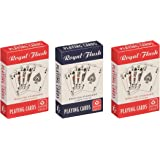 Cartamundi Royal Flush Playing Cards (3 pack, Red / White / Blue)