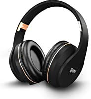 Flybot Rock Over-Ear Bluetooth Headphone with Seamless Controls, IPX 5 Sweat Proof Cushions, up to 6 Hours Playtime (Black-G