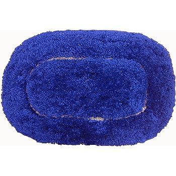 AURAVE Oval Micro-Fibre Bath Mat - High Water absorbency - Blue