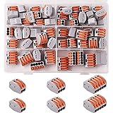 Kinstecks 60PCS Lever-Nut 2/3/5 Paquete de Surtido de Conductores Conector Conector de Empalme Compacto PCT-212 / PCT-213 /