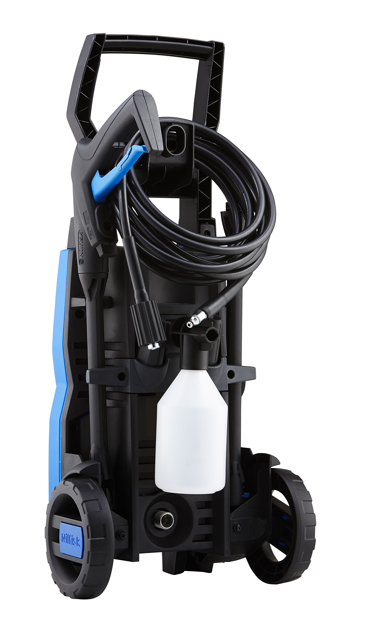 815LVMok0RL - Nilfisk C 110 bar 110.7-5 PC X-TRA Compact Pressure Washer for Basic Tasks – Outdoor Cleaner with Patio Cleaning Accessory Kit – 440 L/H Water Flow (Blue)