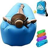 Cosy Cloud Aufblasbare Liege, Sofa, tragbar, Outdoor, wasserdicht mit integriertem Kissen, Aufblasbare, Liegen für Schwimmbad, Strand, Urlaub, für Camping, Festivals, Reisen